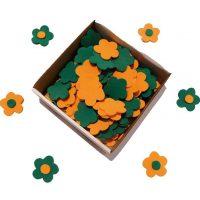 flori hartie gumata verde portocaliu
