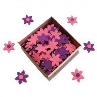 flori decupate hartie gumata