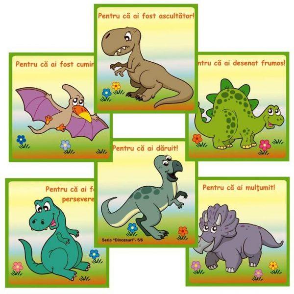 jetoane recompensa prescolari cu dinozauri
