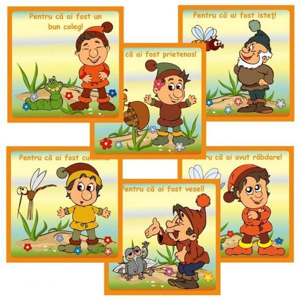 cartonase motivationale cu pitici pentru copii prescolari