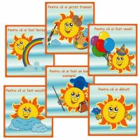 cartonase motivationale pentru copilul prescolar - soare
