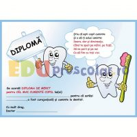 diploma de merit la dentist cu maselute - dd01