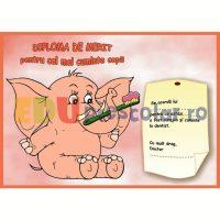 diploma de merit dentist cu elefant - dd05