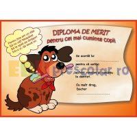 diploma de merit la dentist cu catelus - dd06