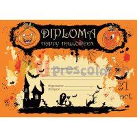 diploma cu dovleci de halloween dh02