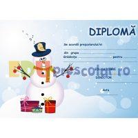 diploma de iarna cu om de zapada di02