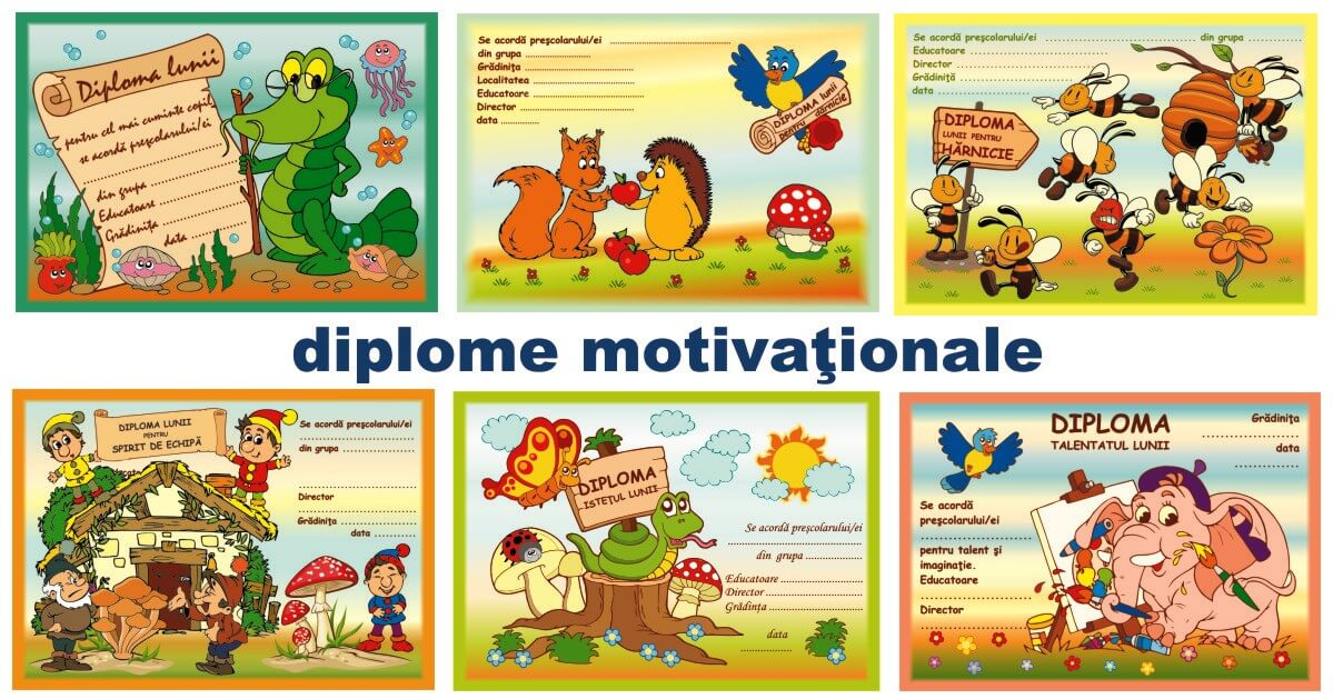Diplome Motivationale Pentru Prescolari Eduprescolarro