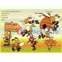 diploma motivationala pentru harnicie cu albinute - dd02