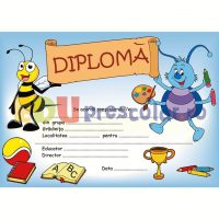 diploma absolvire gradinita cu albinuta si gandacel