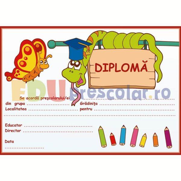 diploma de absolvire gradinita cu sarpe - dpa05