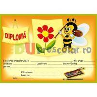 diploma pentru prescolari cu albinuta care picteaza - dpa12