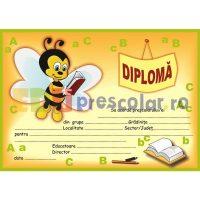 diploma pentru prescolari cu albinuta care citeste - dpa14