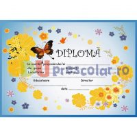 diploma absolvire cu fluture si flori - dpa18