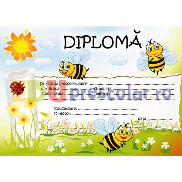 diploma pentru prescolari, grupa albinutelor - dpa26
