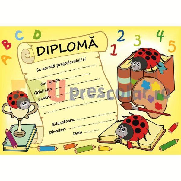diploma pentru prescolari cu buburuze - dpa27