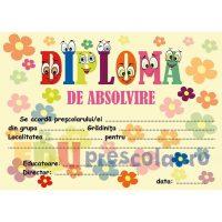 diploma absolvire gradinita cu flori - dpa28