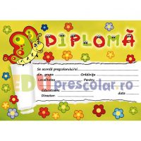 diploma pentru prescolari, grupa fluturasilor - dpa36