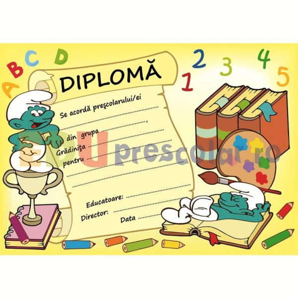 diploma grupa strumfilor - dpa44