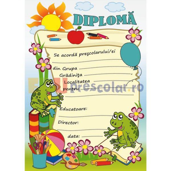 diploma pentru prescolari, grupa broscutelor - dpa51