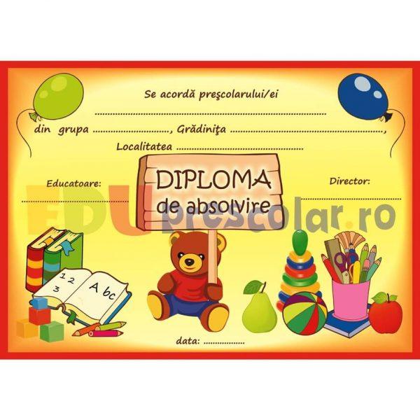 diploma pentru prescolari, grupa ursuletilor - dpa53