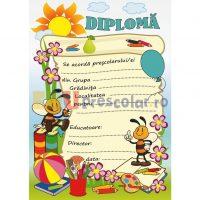 diploma pentru prescolari, grupa albinutelor - dpa57