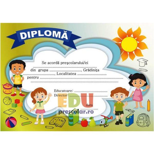 diploma pentru prescolari