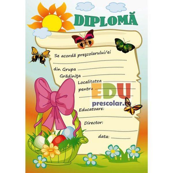 diploma de paste cu fluturi
