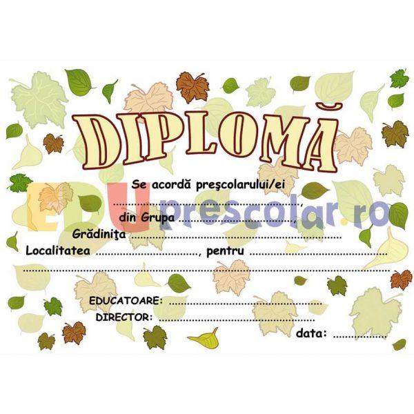 diploma pentru prescolari de toamna - dtp02