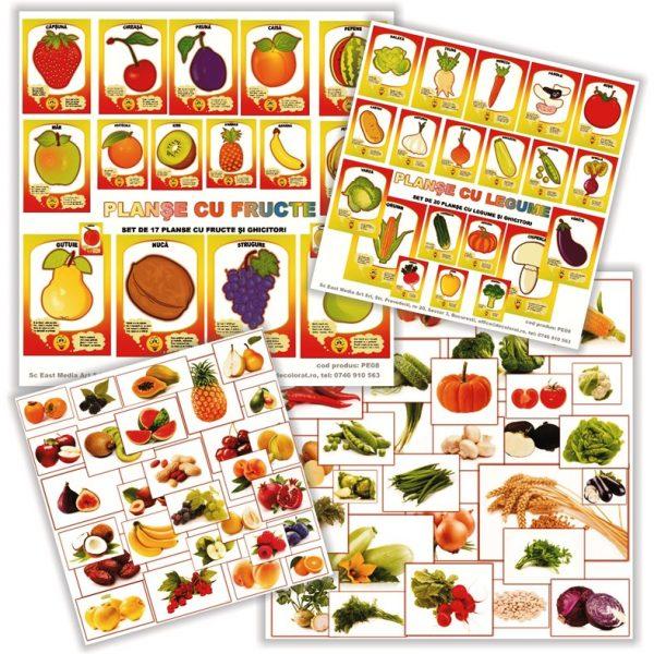 planse si jetoane cu fructe si legume