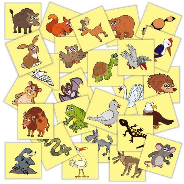 jetoane matematice cu animale si pasari salbatice din Romania