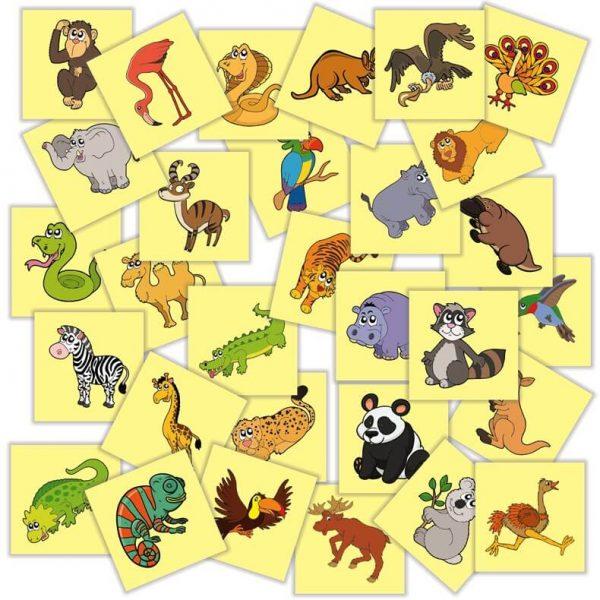 jetoane matematice su animale si pasari salbatice din afara Romaniei