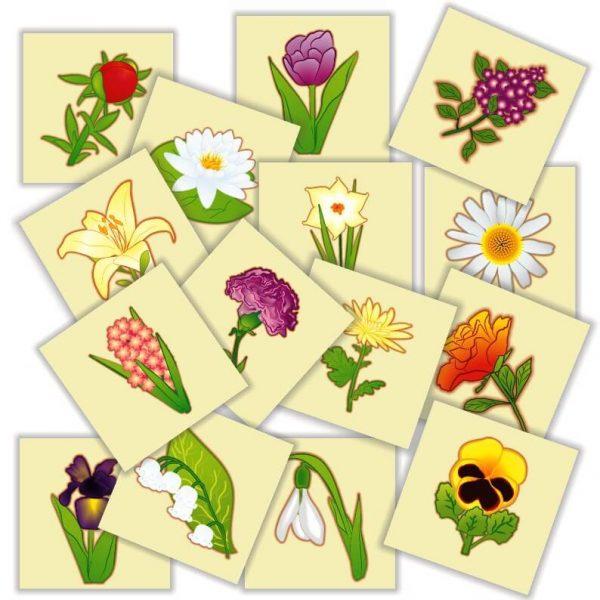 jetoane matematice cu flori