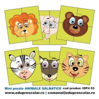 mini puzzle animale salbatice
