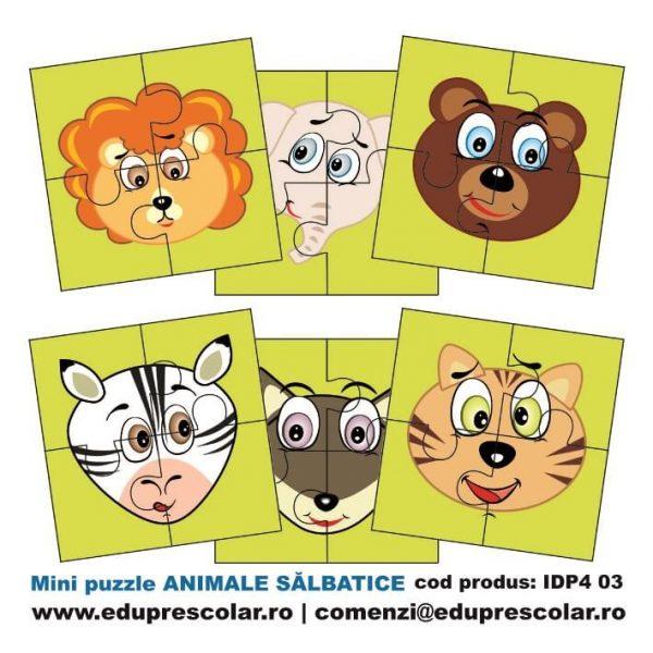 mini puzzle animale salbatice