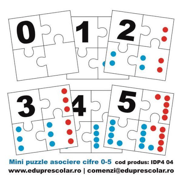 mini puzzle asociere cifre
