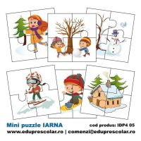mini puzzle anotimpul iarna