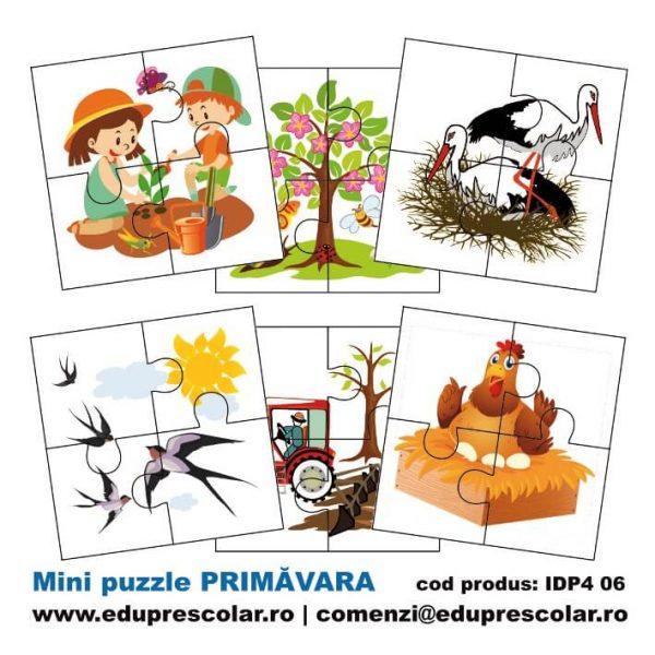 mini puzzle anotimpul primavara