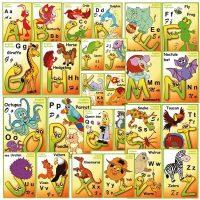 planse cu literele alfabetului englez
