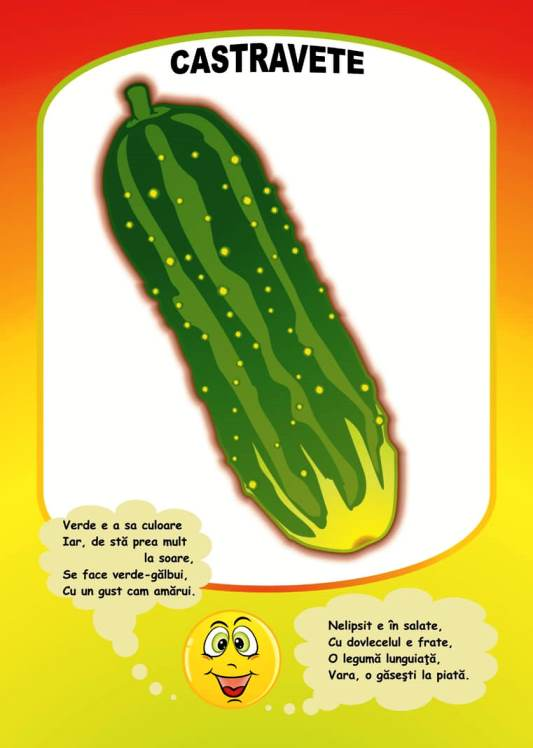planse cu legume -invatam despre castravete