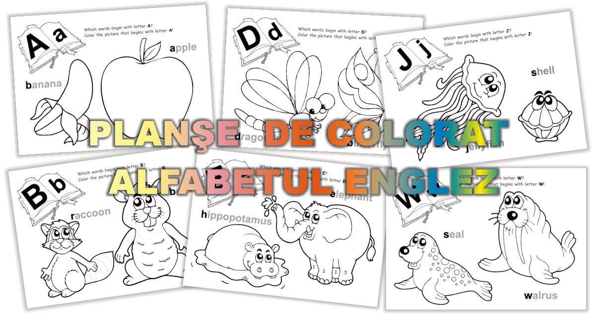 Planse De Colorat Alfabetul Englez Materiale Didactice Gradinita Eduprescolarro
