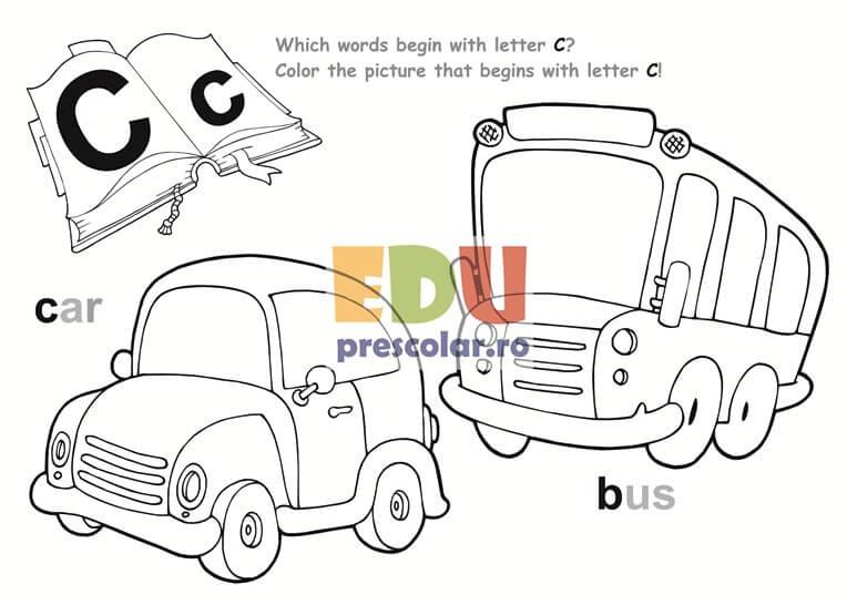 Planse De Colorat Alfabetul Englez